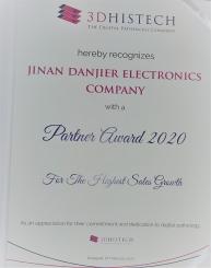 祝贺丹吉尔荣获2019年3DHISTECH全球最高销售成长奖